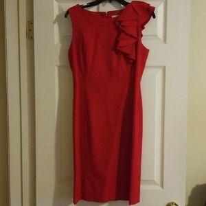 Red Calvin Klein Dress Size 6